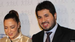 Turkish singer Ebru Gundes, left, with her husband, Reza Zarrab, who has been jailed in the U.S. on charges of helping Iran evade U.S. sanctions.