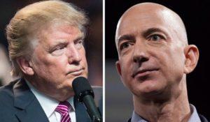Donald Trump and Jeff Bezos