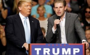 Donald Trump and son Eric Trump. /Reuters