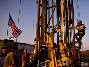 U.S. shale production is forecast to hit U.S. production back to 9 million barrels a day by this time next year.