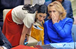 Huma Abedin and Hillary Clinton. /EPA