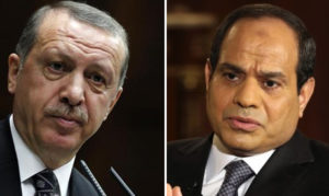 Turkish President Recep Tayyip Erdogan and Egyptian President Abdul Fatah Sisi