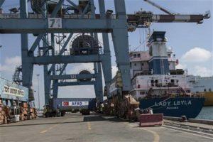 The 'Lady Lela' docks at Israel's Ashdod port on July 3. /AP