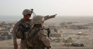 U.S. Marines at Al Taqaddum Air Base, Iraq. /Photo by Cpl. John Baker/Marine Corps