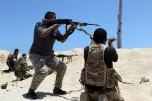 GNA forces fire on ISIL jihadists in Sirte. /AFP