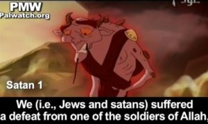 PA cartoon teaches children that Jews do the work of Satan. /PMW