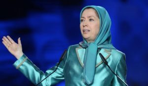 National Council of Resistance of Iran leader Maryam Rajavi.