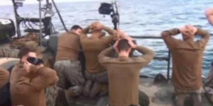 U.S. sailors captured by Iran are shown on Tehran's state-run television.