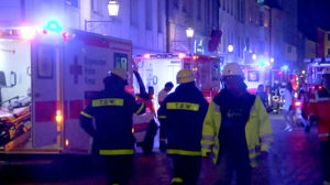 Emergency workers at the scene of a bomb attack in Ansbach, Germany. /Reuters