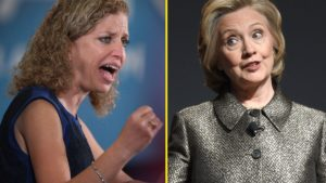 Debbie Wasserman Schultz and Hillary Clinton