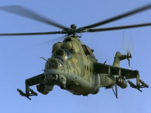 Mi-25 helicopter. /File