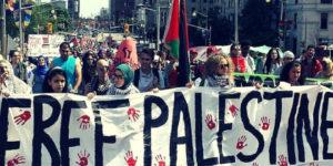 University students rally against Israel during Israeli Apartheid Week. /Facebook