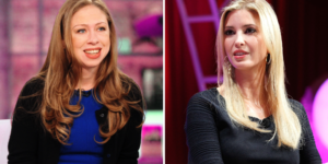 Double standard: Chelsea Clinton and Ivanka Trump.