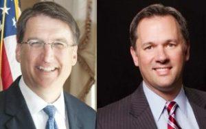 North Carolina Gov. Pat McCroy and Lt. Gov. Dan Forest