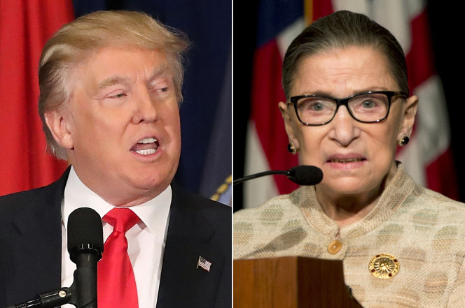 Trump weighs in on Justice Ginsburg's foray into partisan politics: A 'disgrace to the court'