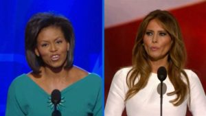 Michelle Obama and Melania Trump