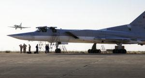 Russian warplane at Hamedan air base in Iran. /AP via WarfareWW