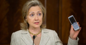 The Clinton campaign uses the 'Snowden-approved' Signal app.