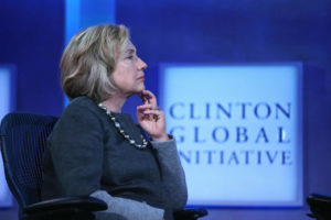 Hillary Clinton listens during the opening session of the Clinton Global Initiative, on September 22, 2014. Photo: John Moore/2014 Getty Images
