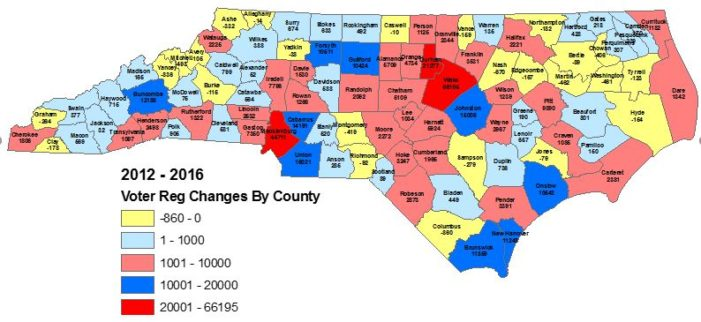 Voter trends in 'tossup state' North Carolina worry Democrats