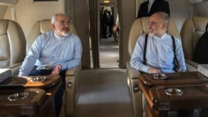Iran's Foreign Minister Mohammad Javad Zarif, left, is on a tour of Latin America.