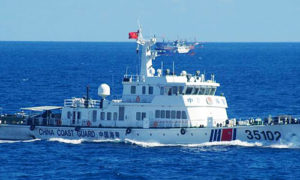 Chinese coast guard vessel near the Senkakus this week.