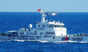Chinese coast guard vessel near the Senkakus this week.