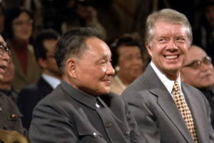 Jimmy Carter and Deng Xiaoping on Jan. 1, 1979.