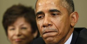 President Barack Obama with top aide Valerie Jarrett.