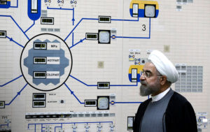 President Hassan Rouhani visits the Bushehr nuclear power plant. /Iranian Presidency Office via AP
