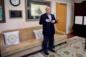 Fethullah Gulen at his home in Saylorsburg, Pennsylvania on July 29. /Reuters/Charles Mostoller