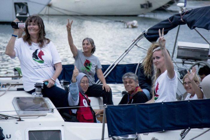 Women's flotilla takes aim at naval blockade of Gaza