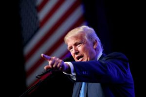 Donald Trump is closing in on the $100 million mark from small-dollar donors. /AP