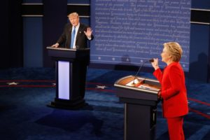 Most snap polls had Donald Trump winning debate No. 1 over Hillary Clinton. /Getty Images