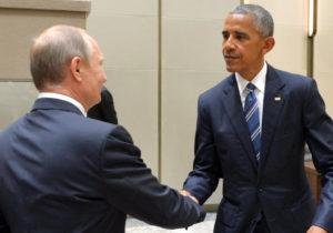 A smiling Vladimir Putin meets an unsmiling Barack Obama on the sidelines of the G20 summit in China. / Alexei Druzhinin / Russian Presidential Press and Information Office