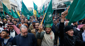 Islamic Action Front supporters at a rally in Amman. /Reuters