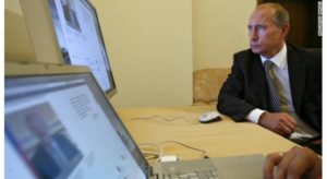 President Vladimir Putin is said considering an exclusive Internet for official and military use. / AFP / Getty Images