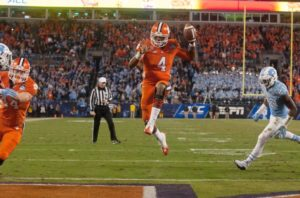 Clemson defeated North Carolina in last year's ACC football championship in Charlotte. /USA Today Sports
