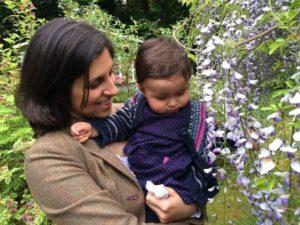 Nazanin Zaghari-Ratcliffe with her daughter.