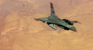 Egypt's airstrikes on Oct. 23 focused on a village near the Gaza Strip border.