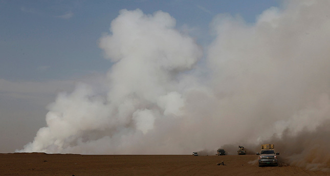Sulfuric acid rain expected in Turkey after ISIL torches sulfur plant near Mosul