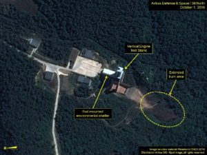 Satellite image released on October 8, 2016 shows the Sohae Satellite Launching Station in North Korea. /AFP