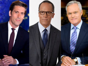 David Muir, Lester Holt and Scott Pelley