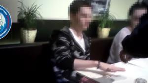 Screen shot of video of arrest in Prague of 'Yevgeniy N.'