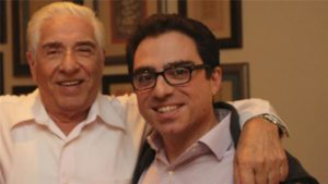 Baquer Namazi and son Siamak Namazi. /Reuters