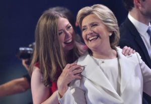 A little help for your friend: Hillary and Chelsea Clinton. /AFP/Getty Images