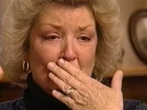 Screen grab from 1999 NBC interview with Juanita Broaddrick.
