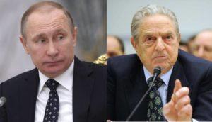 Vladimir Putin and George Soros
