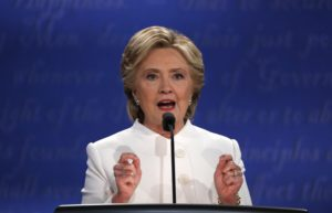 Democratic presidential nominee Hillary Clinton speaks during the third and final 2016 presidential campaign debate. /Reuters
