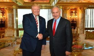 Israel Prime Minister Benjamin Netanyahu with Donald Trump in September. /Kobi Gideon/GPO/EPA